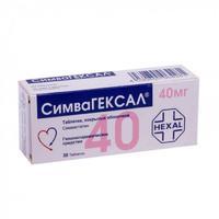 Симвагексал таблетки покрыт.плен.об. 40 мг, 30 шт.