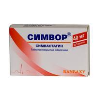 Симвор таблетки 40 мг, 30 шт.