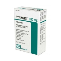 Синагис лиофил. для пригот.р-ра для в/м введ. 100 мг флакон 10мл 1шт. упак.