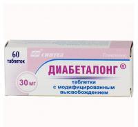 Диабеталонг 30мг таб. с модифиц. высв. х60 (r)