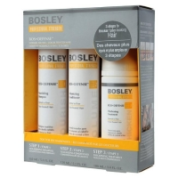 Система Bosley желтая для нормальных тонких окрашенных волос (шампунь, кондиционер, уход) 150млх2+100мл