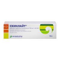 Скинлайт крем для наружного применения 100 мкг+60 МЕ/г 15 г