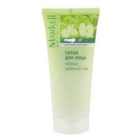 Скраб для лица Markell 95г яблоко, зеленый чай