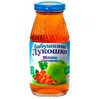 Сок Бабушкино Лукошко яблоко шиповник осветленный 5 мес. стекло 200г упак.