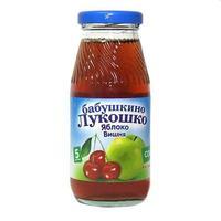 Сок Бабушкино Лукошко яблоко вишня осветленный 5 мес. стекло 200г упак.