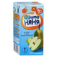 Сок ФрутоНяНя из яблок и груш с мякотью 5 мес. 200г тетрапак упак.