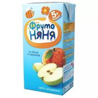 Сок ФрутоНяНя из яблок и персиков 5 мес. 200г тетрапак упак.