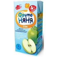 Сок ФрутоНяНя из яблок осветленный 4 мес. 200г тетрапак упак.