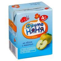 Сок ФрутоНяНя из яблок с мякотью 4 мес. 200г тетрапак упак.