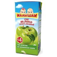 Сок ФрутоНяНя Малышам яблочный осветленный 4мес. 125 тетрапак упак.