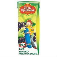 Сок Сады Придонья яблоко черная смородина 5 мес. 200г тетрапак упак.
