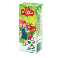 Сок Сады Придонья яблоко-шиповник 6 мес. 200г тетрапак упак.
