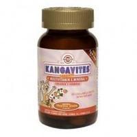 Солгар кангавитес мультивитаминный вкус троп. фруктов, таблетки жевательные, 60 шт.