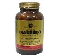 Солгар натуральная клюква с витамином с капсулы, 60 шт.