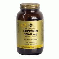 Солгар натуральный соевый лецитин капсулы, 100 шт.