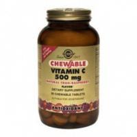 Солгар витамин с с малиновым вкусом, таблетки, 90 шт.