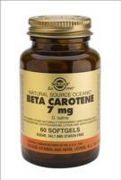 Солгар бета каротин капсулы, 60 шт.