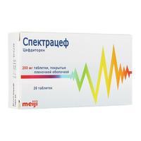 Спектрацеф таблетки 200 мг, 20 шт.