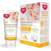 Сплат Зубная паста Splat для детей 0-3 лет Baby Ваниль 40 мл + зубная щетка-напальчник упак.