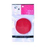 Спонж косметический K-Beauty для очищения кожи лица красный 1 шт