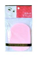 Спонж косметический K-Beauty для очищения кожи лица розовый 1 шт