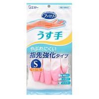 ST Перчатки Family уплотненные на пальцах тонкие S розовые 30см 1 пар