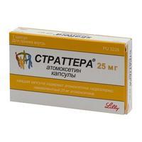 Страттера капсулы 25 мг, 7 шт.