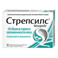 Стрепсилс с ментолом и эвкалиптом таблетки, 36 шт.