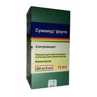 Сумамед суспензия форте 200 мг/5 мл, 15 мл