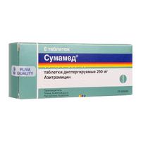 Сумамед таблетки диспергируемые 250 мг 6 шт.