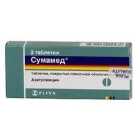 Сумамед таблетки покрыт.плен.об. 500 мг 3 шт.