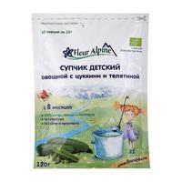 Супчик Fleur Alpine Органик овощной рисовый с цуккини и телятиной 8 мес. 120г упак.