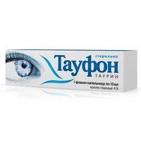 Тауфон глазные капли 4%, 10 мл