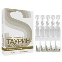 Таурин-СОЛОфарм капли глазные 4 % 1 мл тюбик-капельница 10 шт