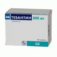 Тебантин капсулы 300 мг, 50 шт.