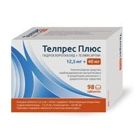 Телпрес Плюс таблетки 40 мг+12.5 мг 98 шт.