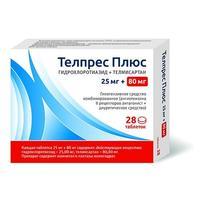 Телпрес Плюс таблетки 80 мг+25 мг 28 шт.