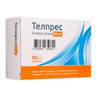 Телпрес таблетки 20 мг 98 шт.