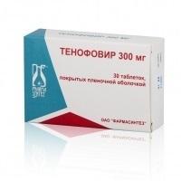 Тенофовир таблетки 300 мг, 30 шт.