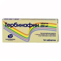 Тербинафин таблетки 250 мг, 14 шт.