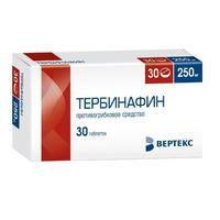 Тербинафин таблетки 250 мг 30 шт.