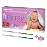 Тест на беременность и овуляцию Frautest Planning тест-полоски, 5+2 шт.