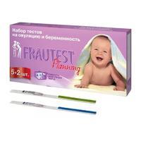 Тест на овуляцию и беременность Frautest тест-полоски, 5+2 шт.