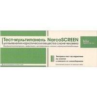 Тест Наркоскрин мультипанель на 5 видов наркотиков в слюне 1 шт.