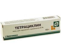 Тетрациклиновая мазь 30000 ЕД/г , 15 г