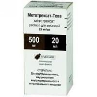 Метотрексат-тева флаконы 25 мг/мл, 20 мл