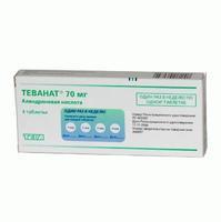 Теванат таблетки 70 мг, 4 шт.