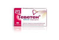 Теветен таблетки 600 мг, 14 шт.