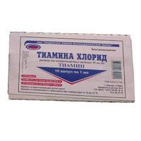 Тиамин ампулы 5% , 1 мл , 10 шт.