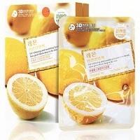 Тканевая маска 3D Natural Nurishing Facial Mask from lemon для лица с лимоном 38г 10шт. упак.